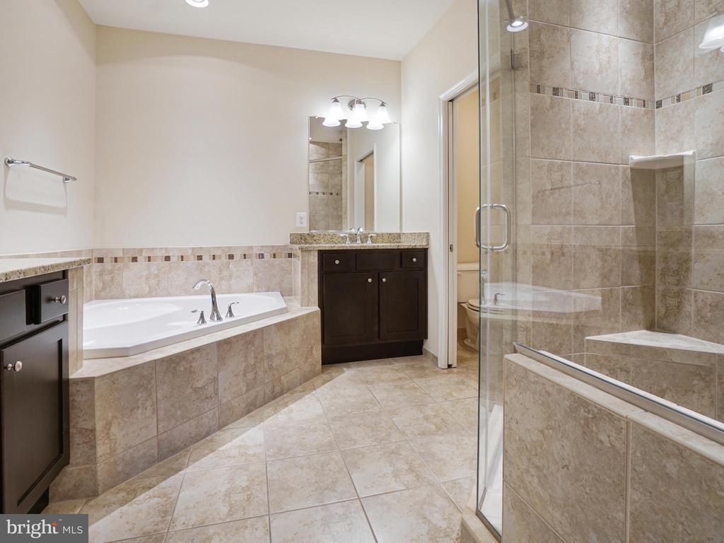 Master bathroom luxurious  soaking tub - 2952 MILL ISLAND PKWY, FREDERICK