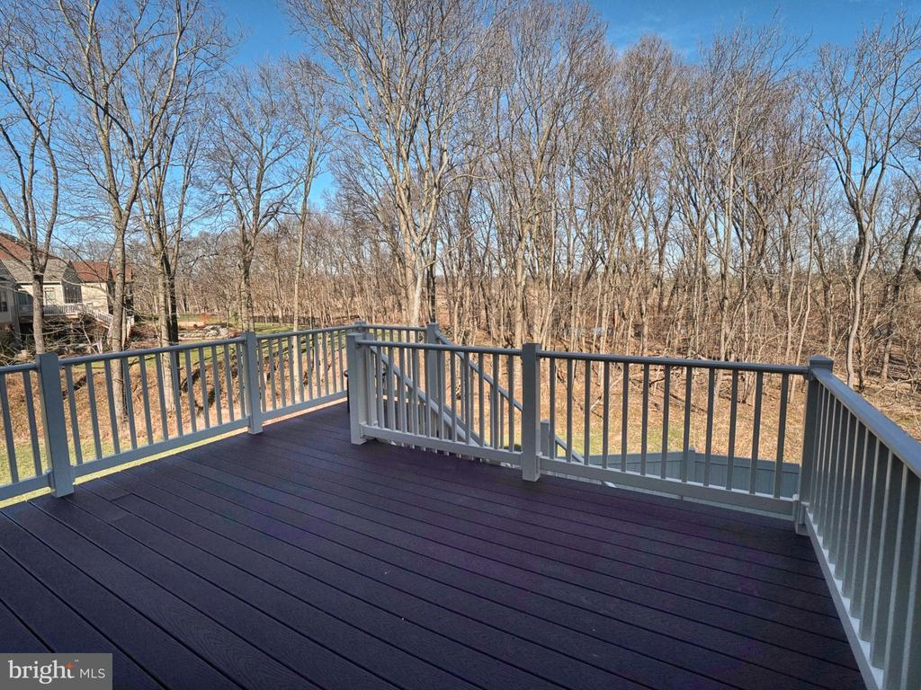 Composite deck overlooks river and mature tree - 2952 MILL ISLAND PKWY, FREDERICK