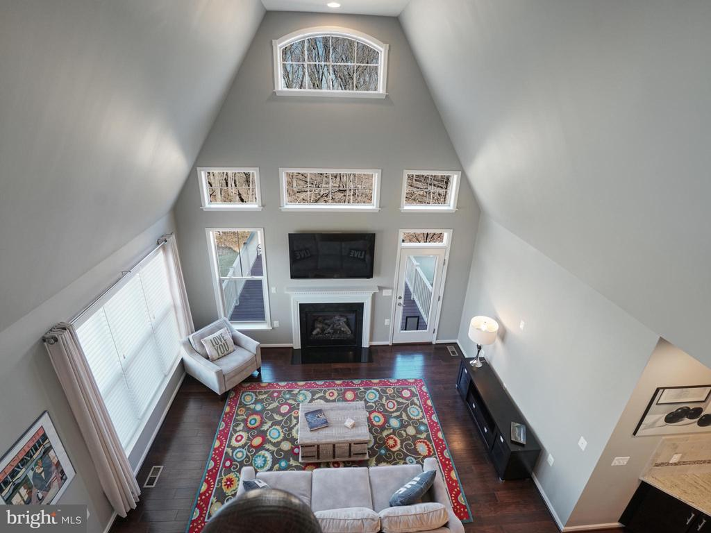 View of Great Room from loft - 2952 MILL ISLAND PKWY, FREDERICK