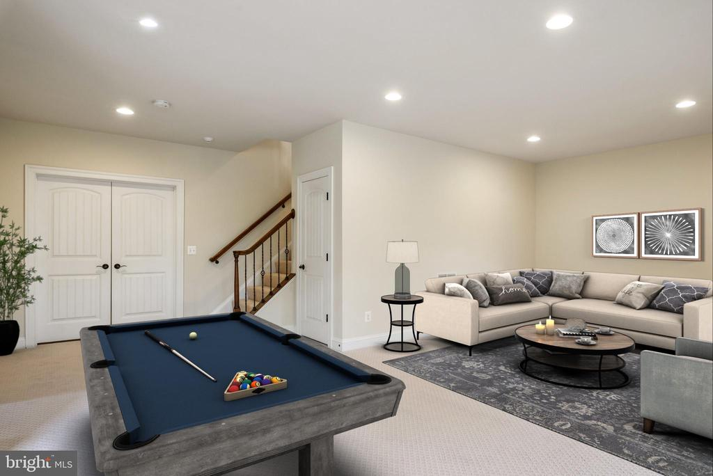 Lower level Rec Room - 10323 LYNCH LN, OAKTON