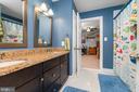 Dual Access Bathroom between Bedrooms 2 & 3 - 1515 JUDD CT, HERNDON