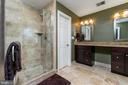 Newly Renovated Master Bath w/Deluxe WI Shower - 1515 JUDD CT, HERNDON