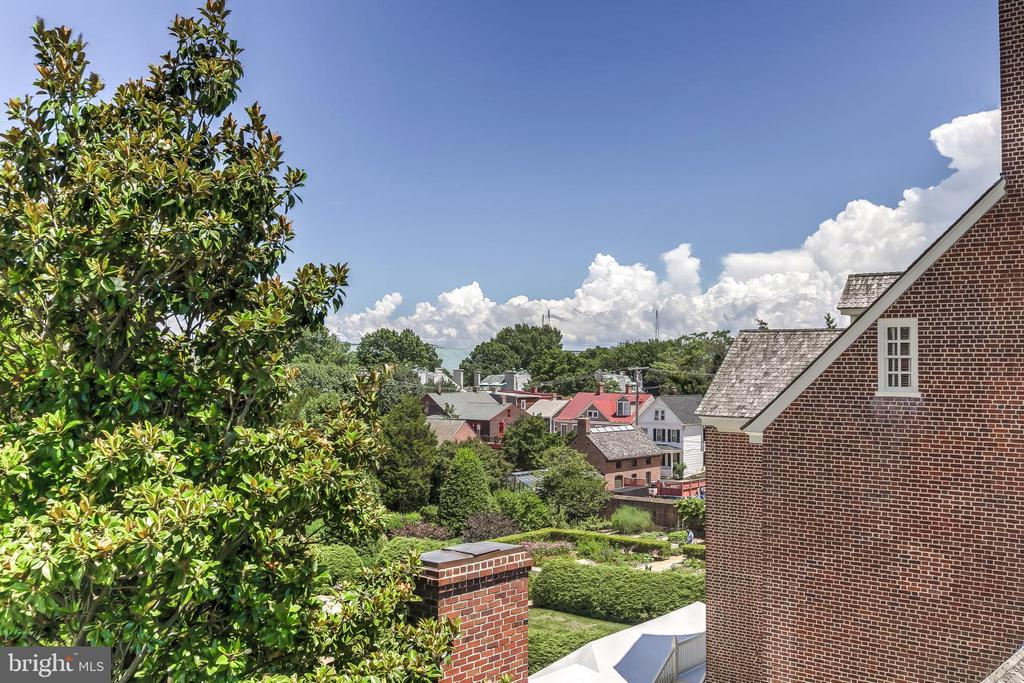 View of Paca House Gardens from Roof Deck - 194 PRINCE GEORGE ST, ANNAPOLIS
