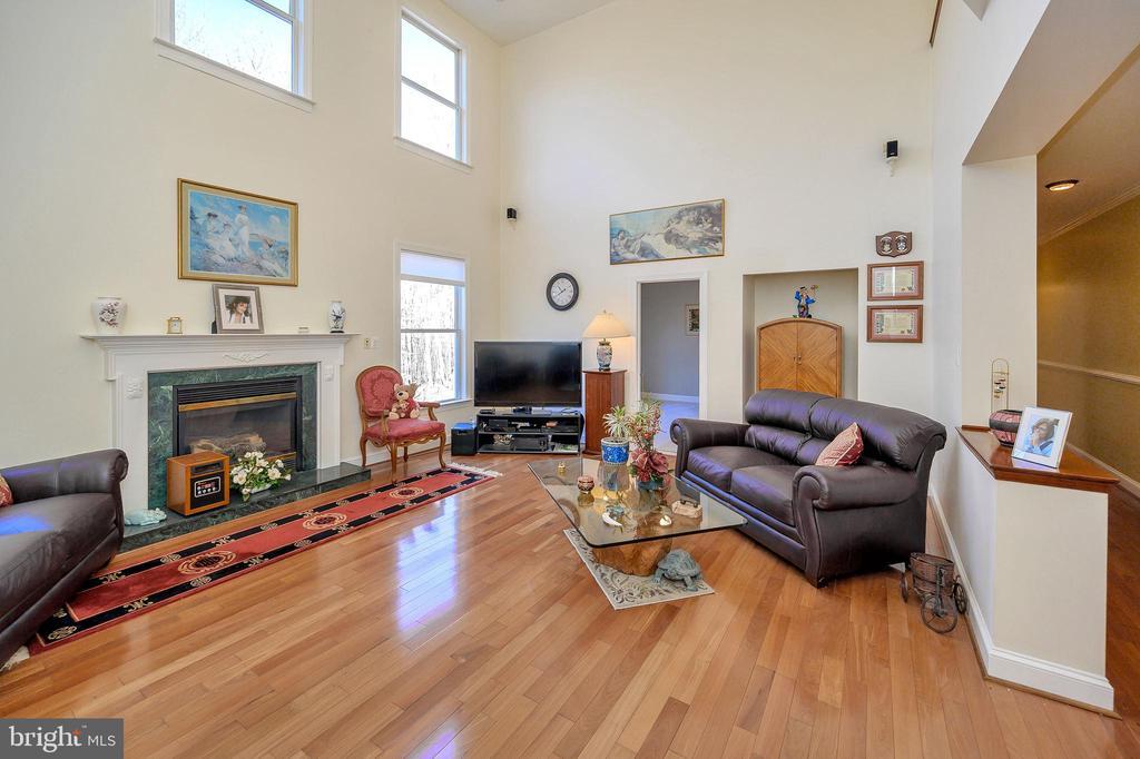 Great Room w/Marble Fireplace  & Custom Mantel... - 6142 WALKER'S HOLLOW WAY, LOCUST GROVE