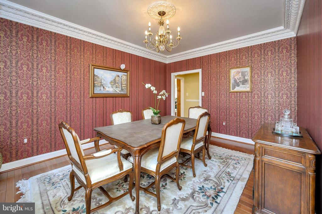 Formal Dining Room with Imported Wallpaper... - 6142 WALKER'S HOLLOW WAY, LOCUST GROVE