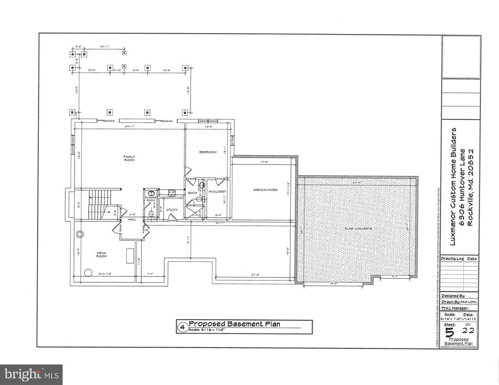 Floor Plan - Lower Level - Time to Customize - 6307 HUNTOVER LN, NORTH BETHESDA