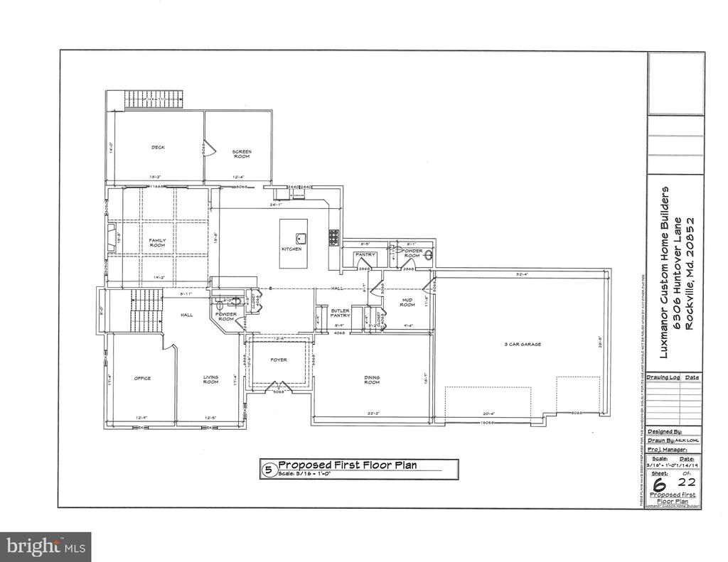 Floor Plan - Main Level - Time to Customize - 6307 HUNTOVER LN, NORTH BETHESDA