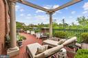 Pergola on terrace 1 outside Master Suite - 7405 ARLINGTON RD #402, BETHESDA