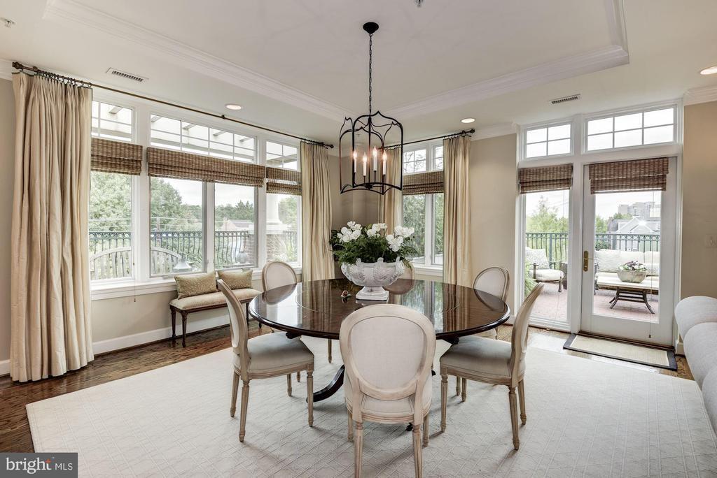 Dining Room with terrace access - 7405 ARLINGTON RD #402, BETHESDA