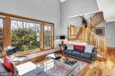 Radiant heated, recycled oak fence post flooring - 12606 TRILLIUM GLEN LN, LOVETTSVILLE
