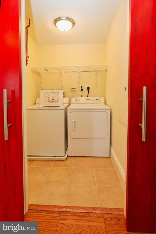 A REAL laundry room with tiled floor - 11990 MARKET ST #1914, RESTON