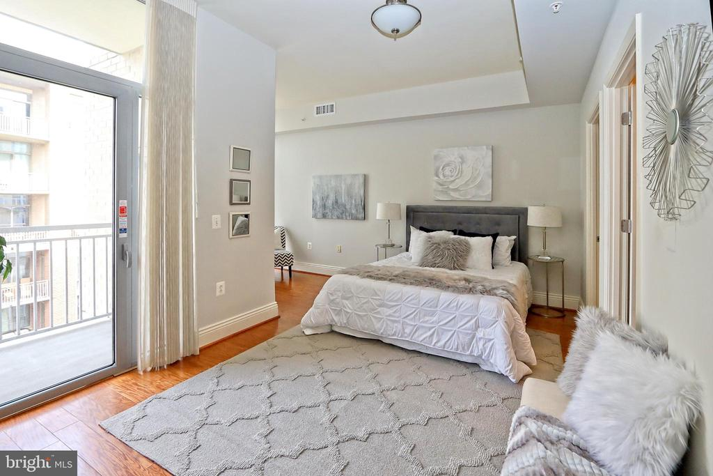 The master suite offers a third balcony - 11990 MARKET ST #1914, RESTON