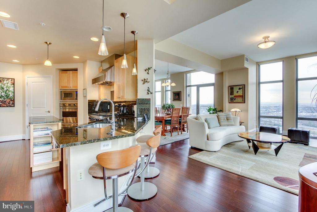 Kitchen - Living Room - 11990 MARKET ST #2114, RESTON