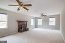 Large Family Room With Wood Burning Fireplace - 135 LADY JANE LN, FREDERICKSBURG