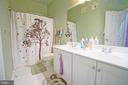 Hallway full bath with double vanity - 647 WHETSTONE GLEN ST, GAITHERSBURG