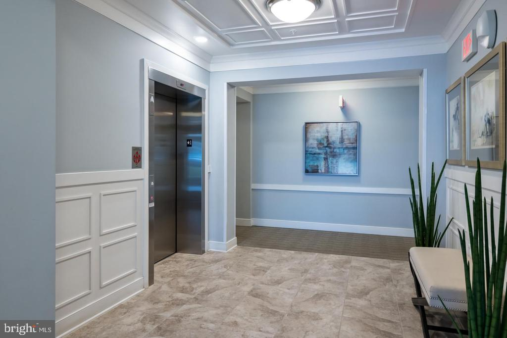 Elevator Access and Entryway of Bulding - 20570 HOPE SPRING TER #401, ASHBURN
