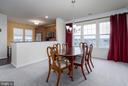 Kitchen is adjacent to Dining Room - 20570 HOPE SPRING TER #401, ASHBURN