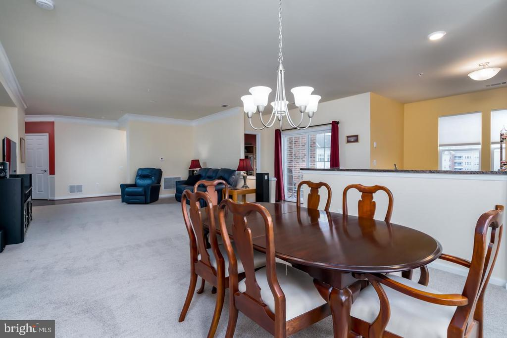 From Dining Room into Kitchen and Living Room - 20570 HOPE SPRING TER #401, ASHBURN