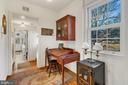 Even the hall from mudroom boasts vintage style. - 18217 CANBY RD, LEESBURG