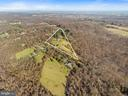 Aerial property outline gives perspective! - 18217 CANBY RD, LEESBURG