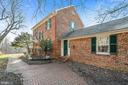 Elegant front entry w/ cobblestone walk. - 18217 CANBY RD, LEESBURG
