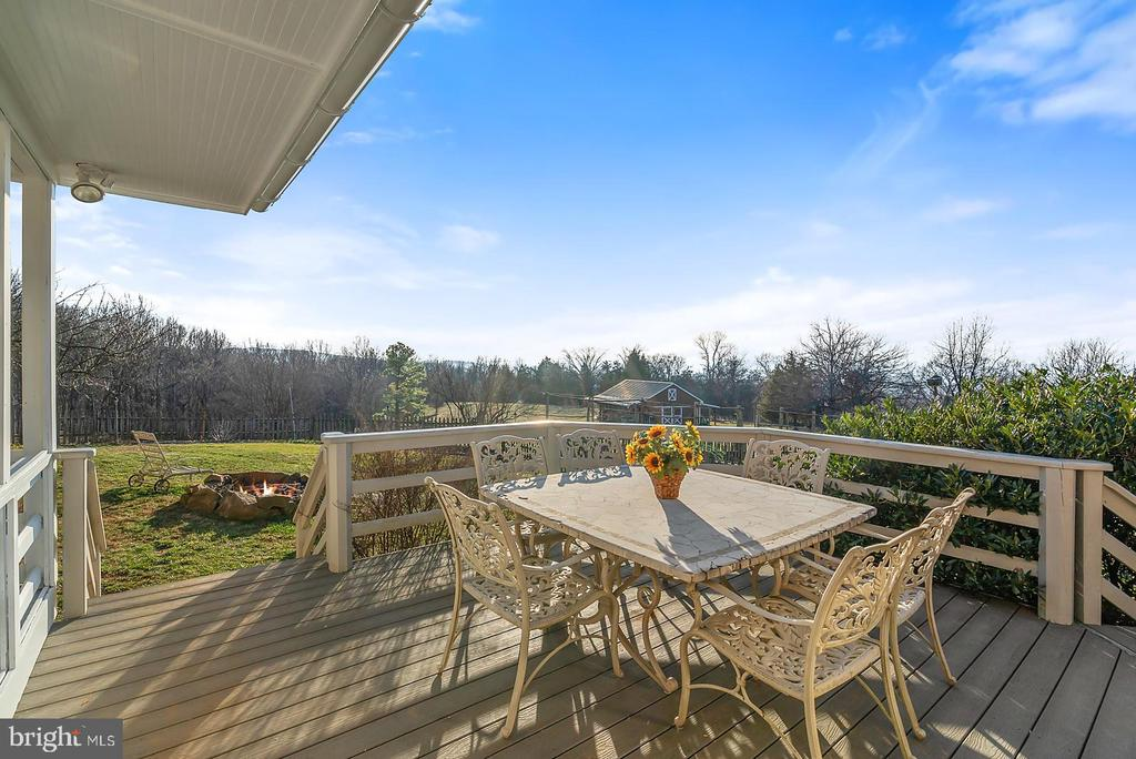 Views from deck of barn, gardens & sunset. - 18217 CANBY RD, LEESBURG