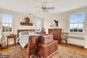 Master BR w/ 3 sided bucolic views. - 18217 CANBY RD, LEESBURG