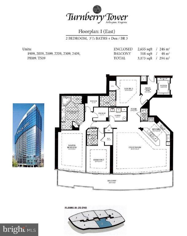 Floorplan - 1881 N NASH ST #2309, ARLINGTON