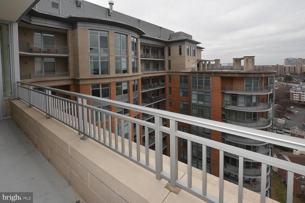 BALCONY OF LIVING ROOM AND MASTER BEDROOM - 8220 CRESTWOOD HEIGHTS DRIVE #1818, MCLEAN