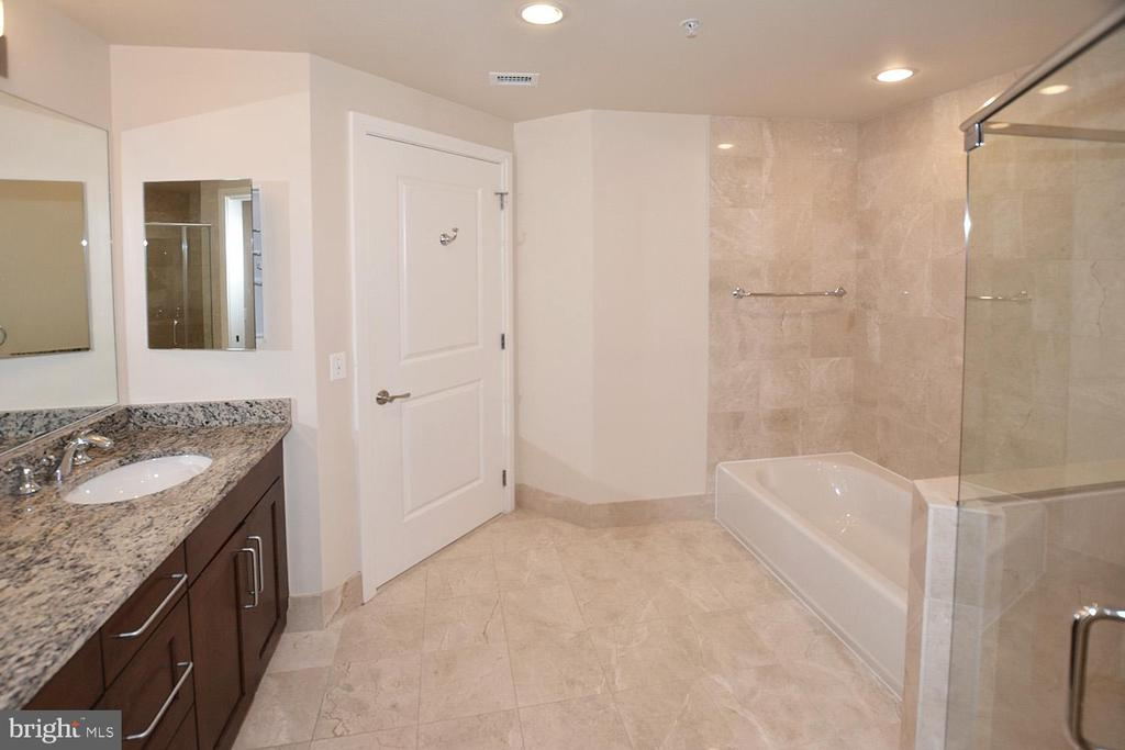 MASTER BATHROOM WITH TUB, CERAMIC TILES - 8220 CRESTWOOD HEIGHTS DRIVE #1818, MCLEAN