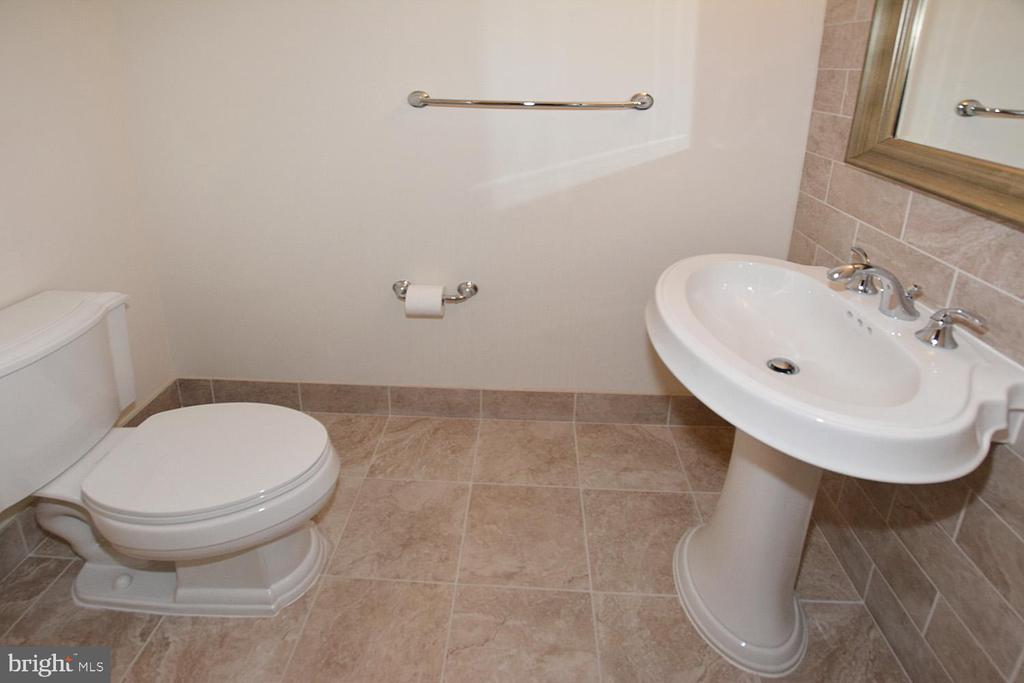 HALF BATHROOM CERAMIC TILES  MIRROR AND MORE - 8220 CRESTWOOD HEIGHTS DRIVE #1818, MCLEAN
