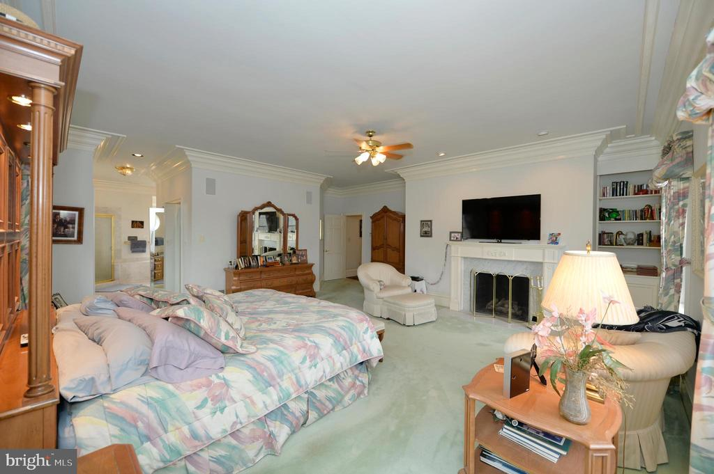 Master bedroom has gas fireplace - 37120 DEVON WICK LN, PURCELLVILLE