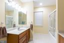 Upper level  full bath - 9403 LUDGATE DR, ALEXANDRIA