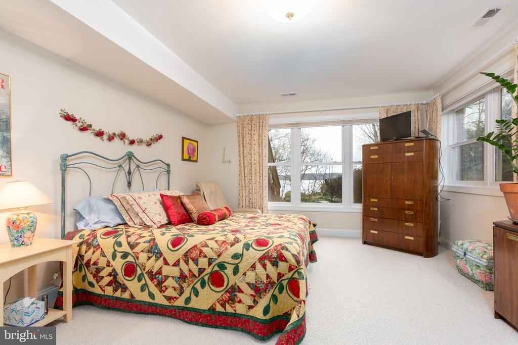 Lower level bedroom 5 with water views - 9403 LUDGATE DR, ALEXANDRIA