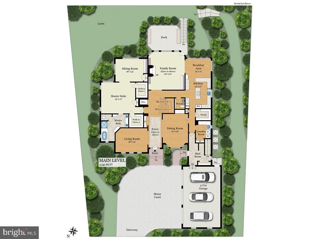 Main level Floor Plan - 9403 LUDGATE DR, ALEXANDRIA