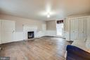 Family Room with gas Fireplace - 100 CARTER ST, FREDERICKSBURG