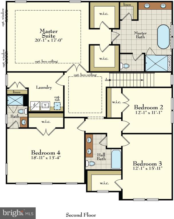 All large bedrooms & amazing W/I closets - 3414 BURROWS AVE, FAIRFAX