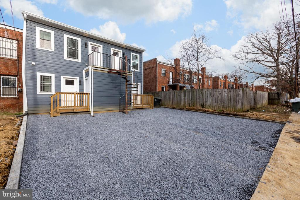 **photo of parking pad prior to completion - 411 MELLON ST SE ##2, WASHINGTON