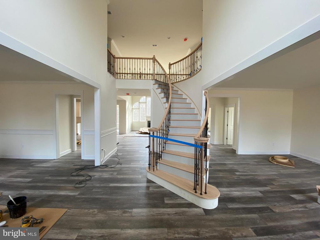 One of two staircases leading upstairs - 2500 RUNNING BROOK CT, STAFFORD
