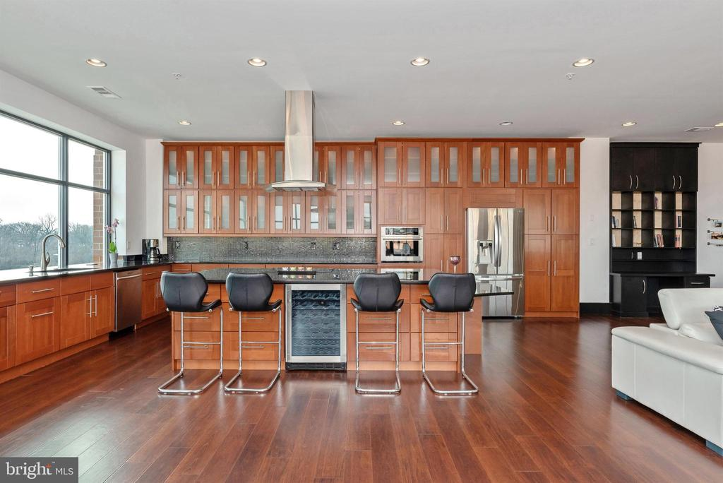Stunning custom kitchen - island and wine fridge. - 50 CITIZENS #504, FREDERICK