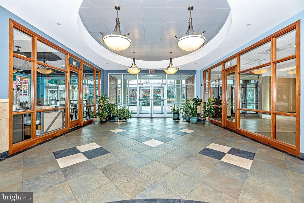 Main building entrance - convenient to dining! - 50 CITIZENS #504, FREDERICK