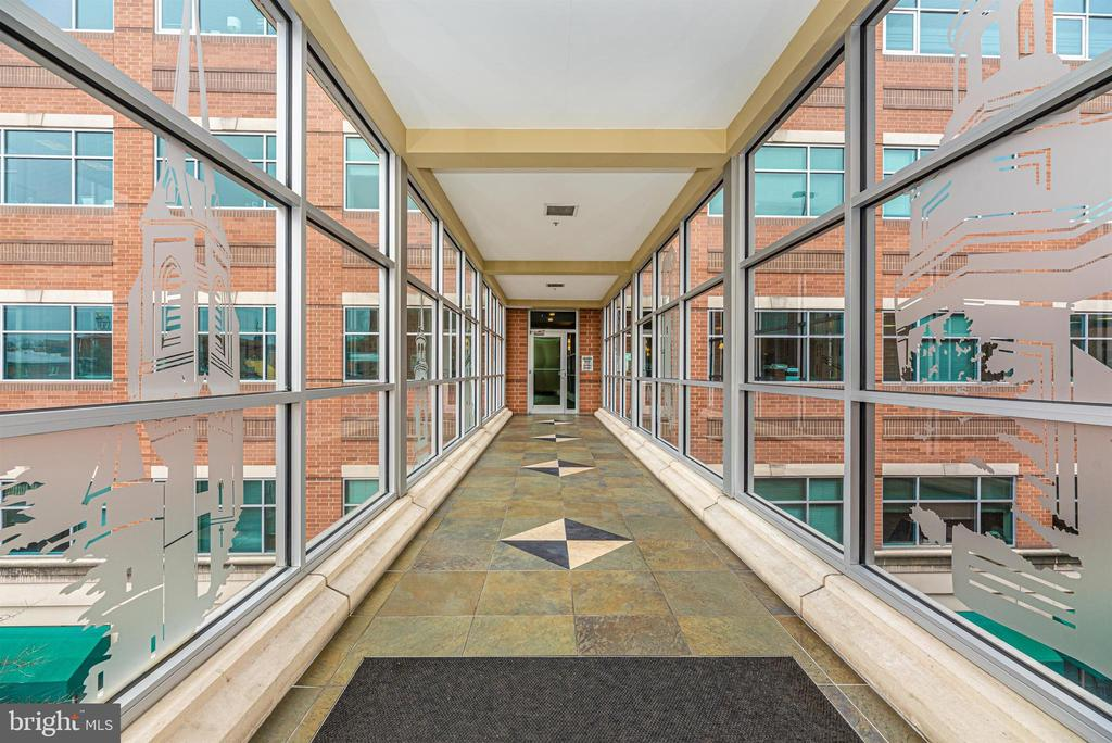 Convenient skywalk from parking garage. - 50 CITIZENS #504, FREDERICK