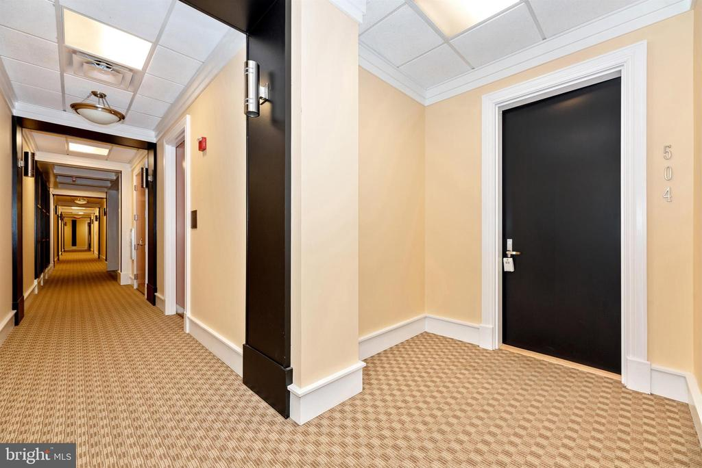 Renovated hallways  leading to the home. - 50 CITIZENS #504, FREDERICK