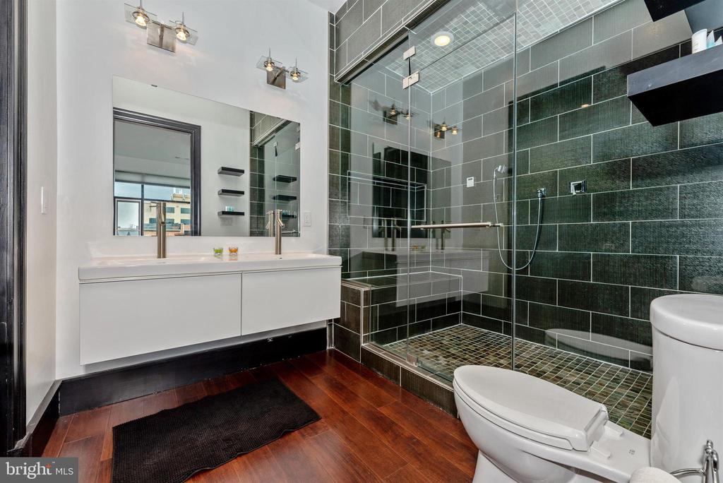 Master bath with steam - sauna shower. - 50 CITIZENS #504, FREDERICK