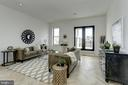Living space leads to charming balcony - 1712 15TH ST NW #3, WASHINGTON