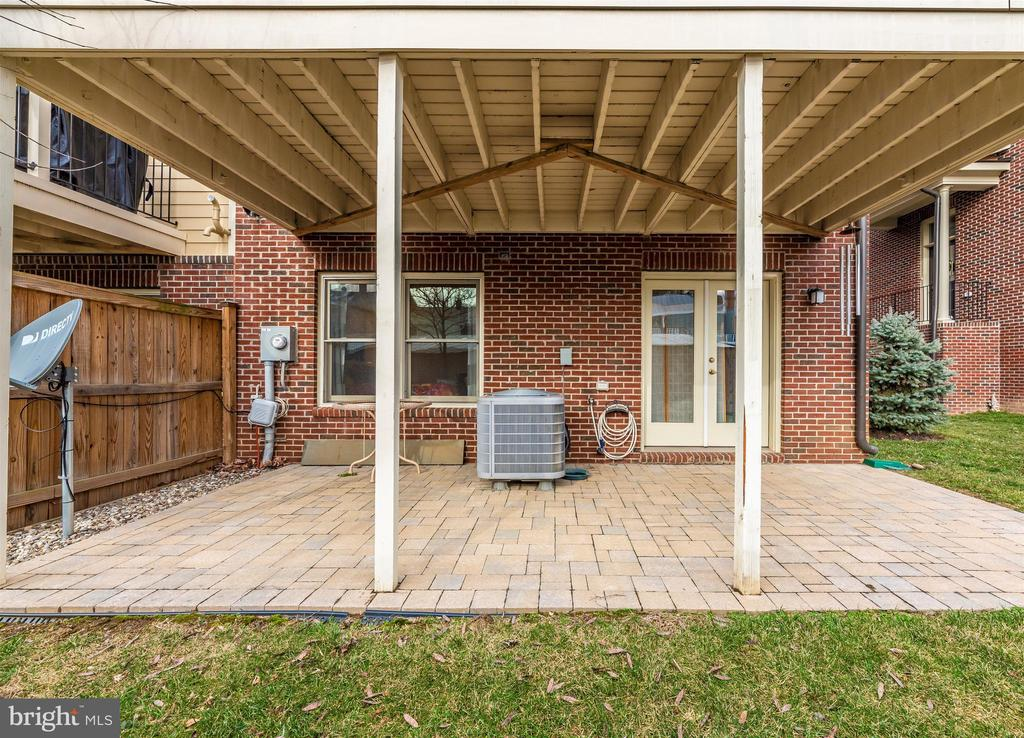 Brick paver patio space invites you outside. - 43 MAXWELL SQ, FREDERICK