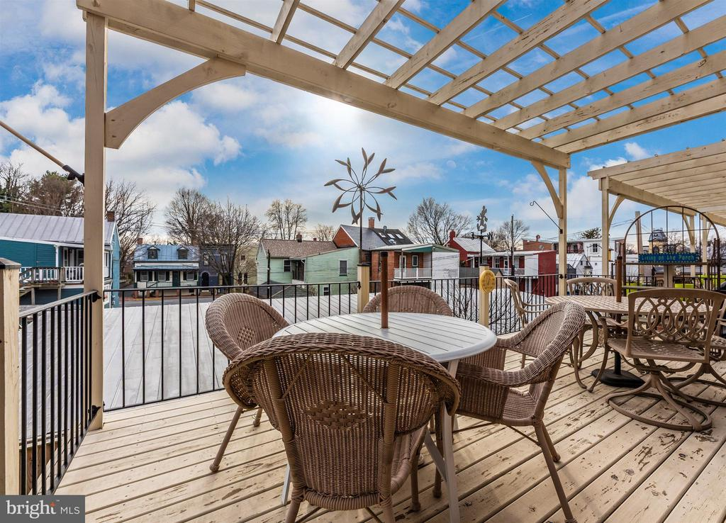 Oversized deck offers fun cityscape views. - 43 MAXWELL SQ, FREDERICK