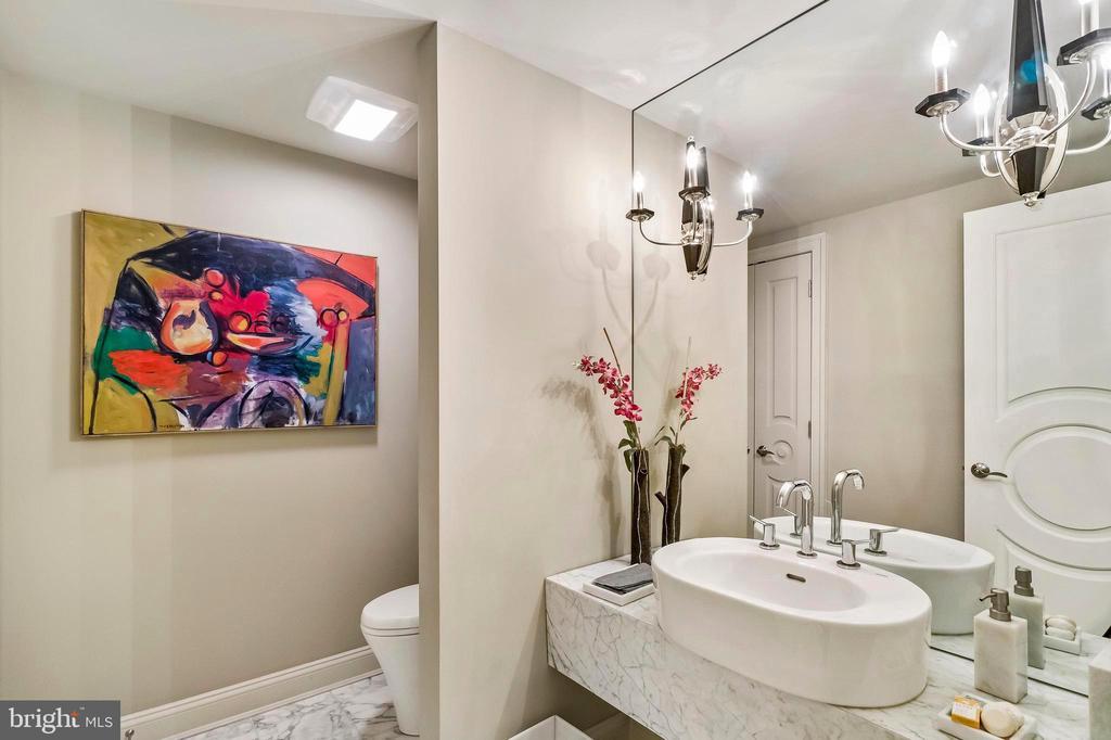 Marble Hallway 1/2 Bath - 1 SLADE AVE #802, BALTIMORE