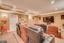 Lower level media room - 20190 KIAWAH ISLAND DR, ASHBURN
