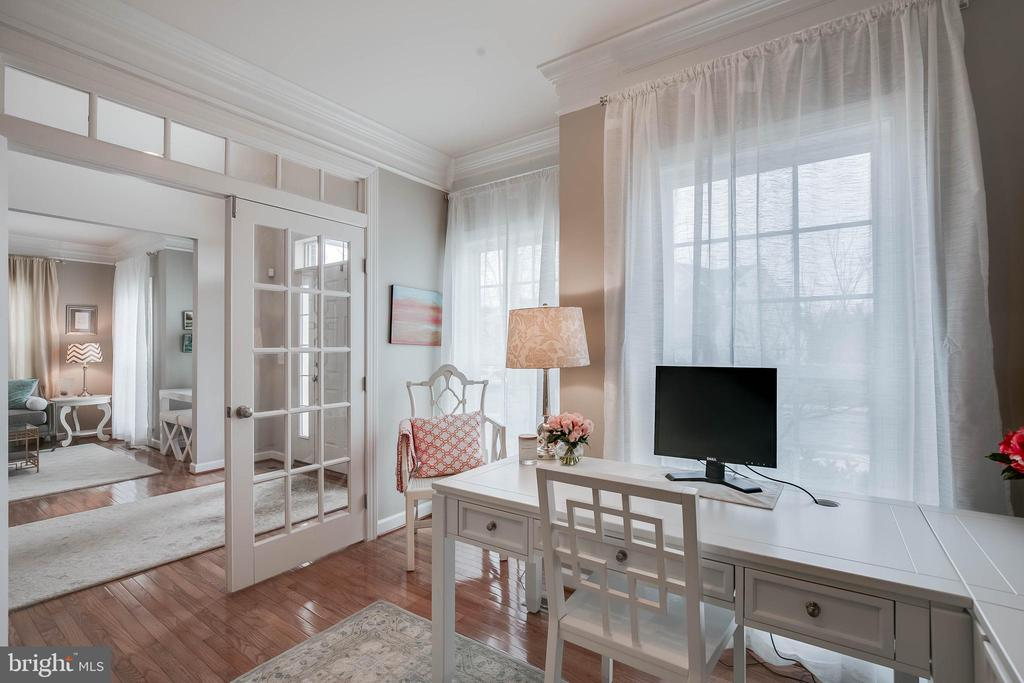An elegant office with french doors. - 25983 KIMBERLY ROSE DR, CHANTILLY
